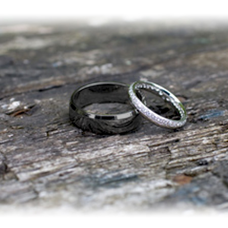 Strong and Manly Titanium Wedding Rings He Will Love Timeless