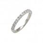 0.53ct double prong diamond weddind band
