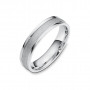 Men's two tone comfort fit wedding band | Sandy Beach | Timeless Wedding Bands