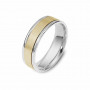 Men's Two Tone Gold Wedding Band | The Academic | Timeless Wedding Bands