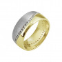 Duality Diamond Wedding Band